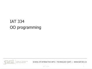 IAT  334 OO programming