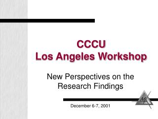 CCCU Los Angeles Workshop