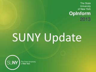 The State  University  of New York OpInform 2013