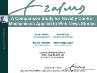 A Comparison Study for Novelty Control Mechanisms Applied to Web News Stories