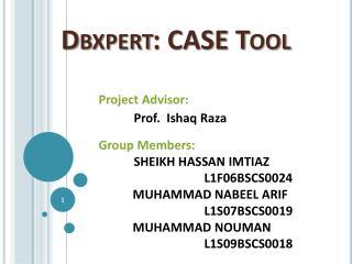 Dbxpert : CASE Tool