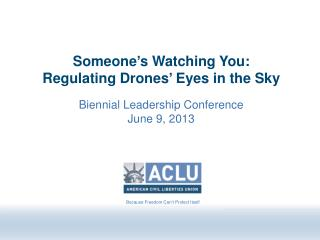 Someone�s Watching You:  Regulating Drones� Eyes in the Sky