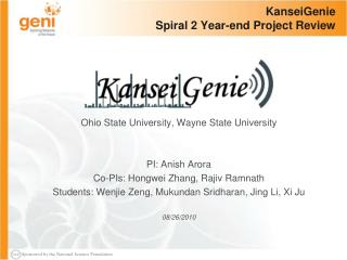 KanseiGenie  Spiral 2 Year-end Project Review
