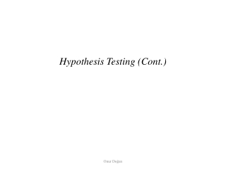 Hypothesis Testing cont.