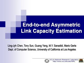 End-to-end Asymmetric Link Capacity Estimation