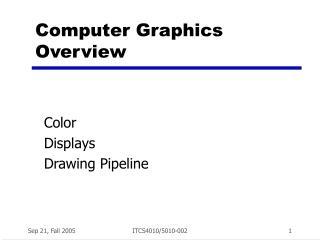 Computer Graphics Overview