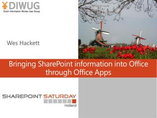 Bringing SharePoint information into Office through Office Apps