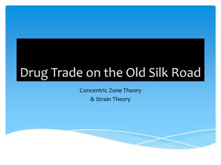 Drug Trade on the Old Silk Road