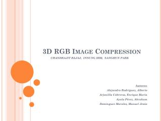 3D RGB  Image Compression