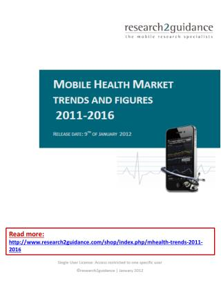 mHealth App Market Trends and Figures 2011-2016
