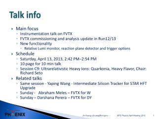 Talk info