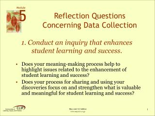 Reflection Questions Concerning Data Collection