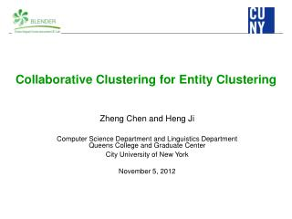 Collaborative Clustering for Entity  Clustering