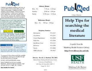 A guide from the Shimberg Health Sciences Library library.hscf