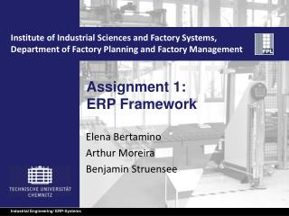 Assignment 1: ERP  Framework