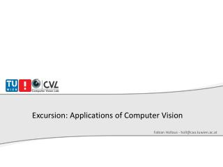 Excursion: Applications of Computer Vision