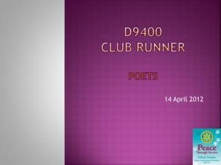 D9400 CLUB RUNNER POETS