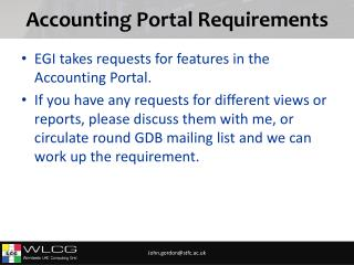 Accounting Portal Requirements