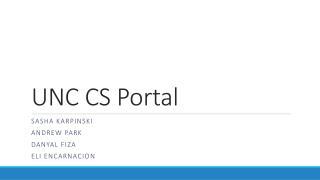 UNC CS Portal