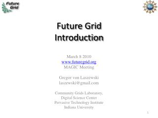 Future Grid  Introduction