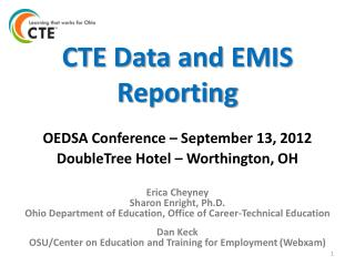 CTE Data and EMIS Reporting