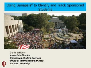 Using  Sunapsis ® to Identify and Track Sponsored  Students
