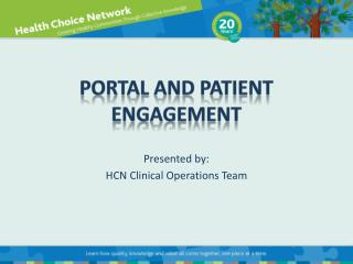 Portal and patient engagement