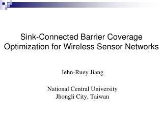 Sink-Connected  Barrier Coverage Optimization for Wireless Sensor Networks