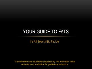 Your Guide to Fats