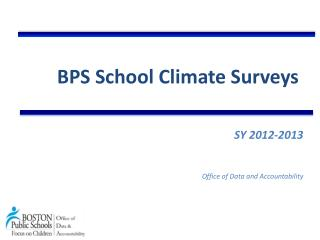 BPS School Climate Surveys