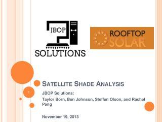 Satellite Shade Analysis