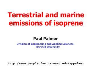 Terrestrial and marine emissions of isoprene