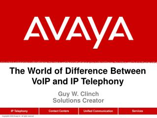 The World of Difference Between VoIP and IP Telephony