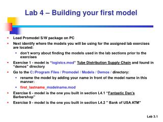 Lab 4 – Building your first model