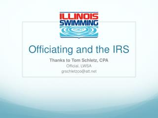 Officiating and the IRS