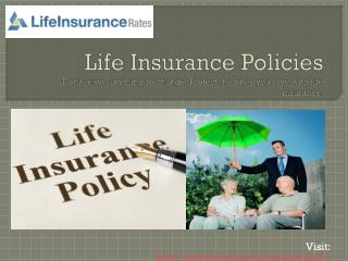 Visit:  lifeinsurancerates/