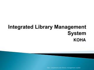 Integrated  L ibrary Management System