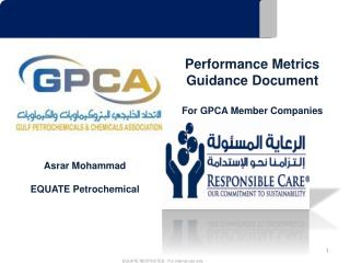 Performance Metrics Guidance  Document For GPCA Member Companies