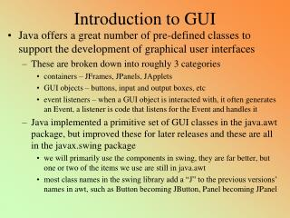 Introduction to GUI