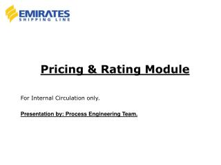 Pricing & Rating Module