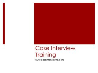 Case Interview training