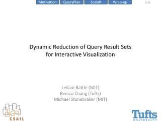 Dynamic Reduction of Query Result Sets  for Interactive Visualization