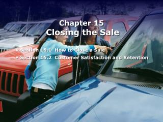 Chapter 15 Closing the Sale