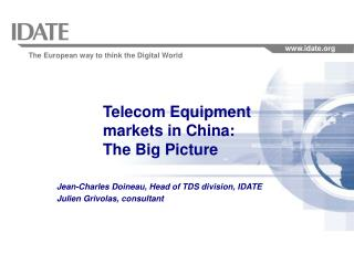 Telecom Equipment markets in China: The Big Picture