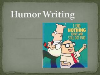 Humor Writing