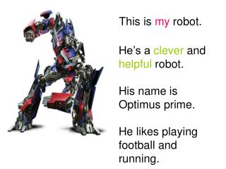 This is  my  robot.