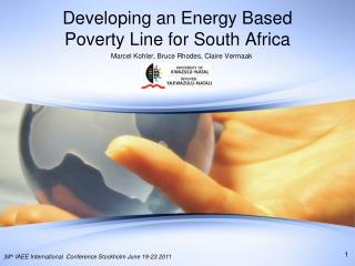 Developing an Energy  Based  Poverty Line for South Africa