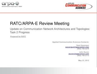 RATC/ARPA-E Review Meeting