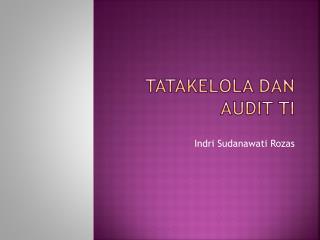 Tatakelola dan audit ti