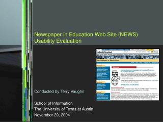 Newspaper in Education Web Site (NEWS) Usability Evaluation